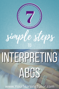 Interpreting ABGs doesn't have to be confusing. Make it easy by breaking it down into 7 easy steps (and 3 of those steps you probably already have memorized!)