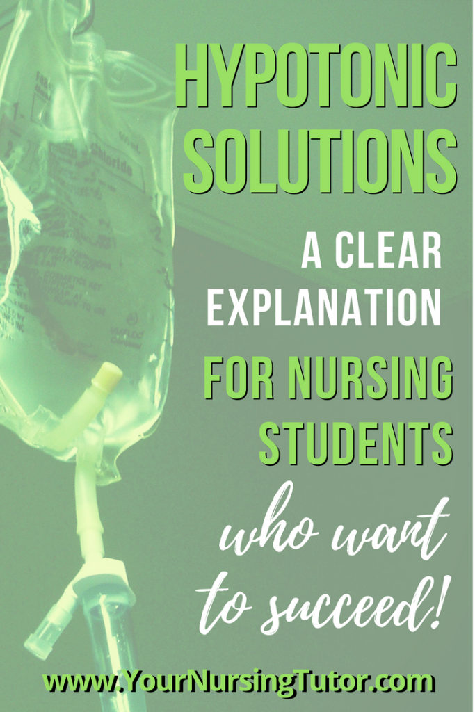 It is essential that nursing students understand when to give hypotonic IV solutions, precautions for administering them.
