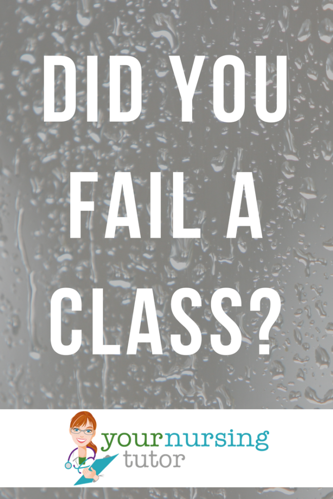 If you failed a nursing school class (or pre-requisite class), life is not over. Find out what nursing students should do to overcome a bad grade.
