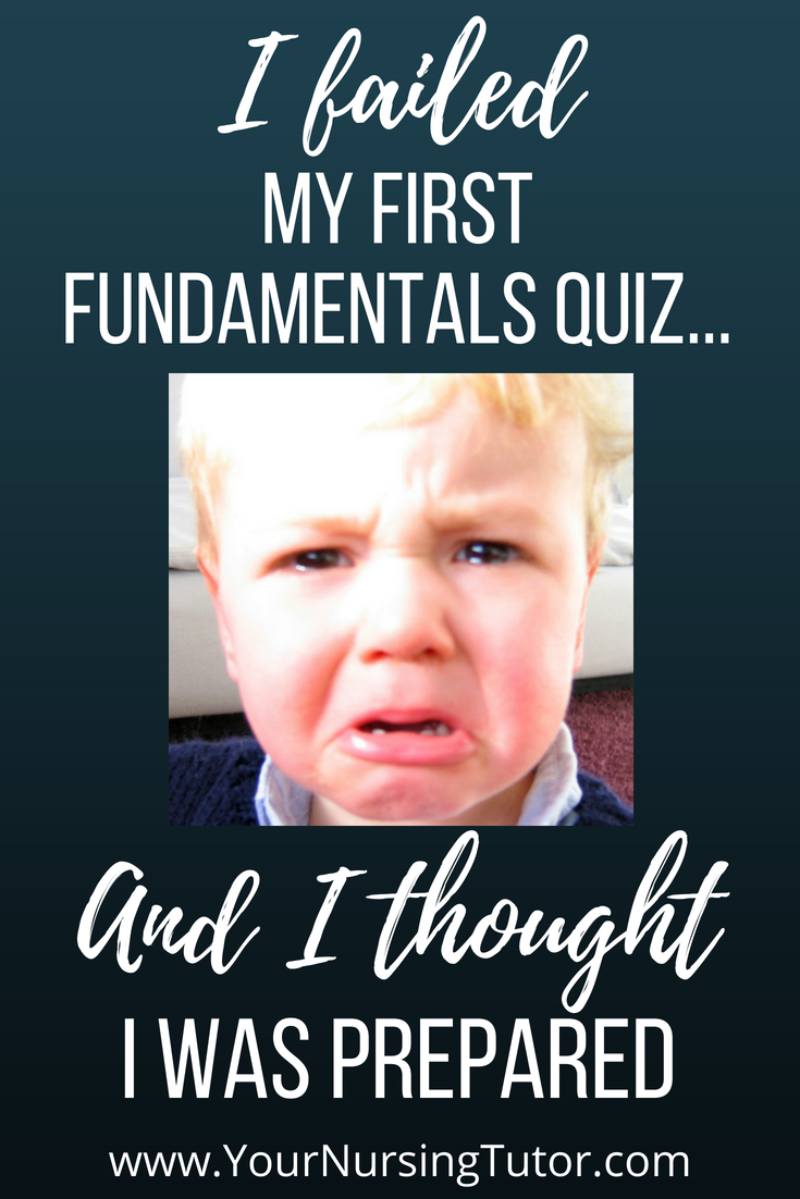 I THOUGHT I was doing everything right...but then I failed my first fundamentals of nursing quiz. Here's what I did to prepare for nursing school so that it NEVER happened again! nursing student study tips, and encouragement for nursing students.
